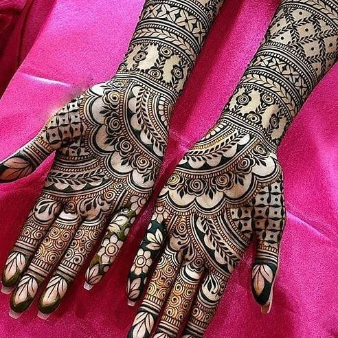 Half Hand Mehndi Design Arabic