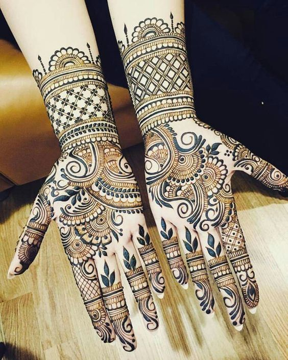 Intricate Designs on Fingers