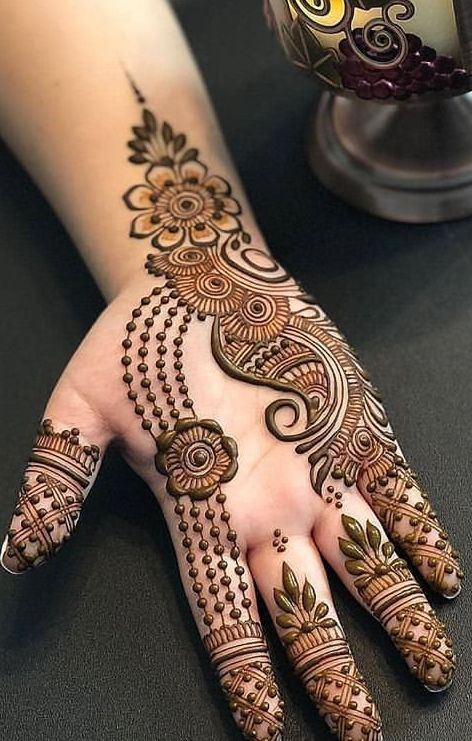 Outline Mehndi designs khafif