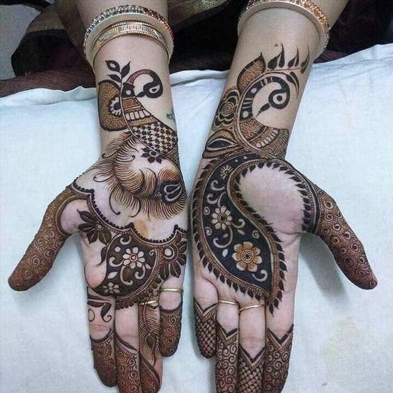 Pattern Khafif mehandi style