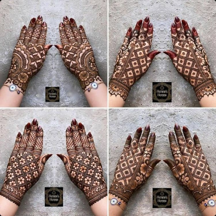 After marriage functions mehndi designs