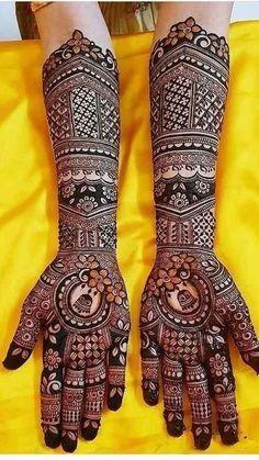 Gorgeous Full hand design of m