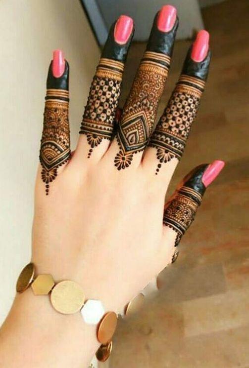 fingers designs for latest mehndi