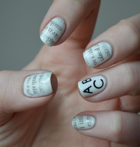 Easy Nail Designs with Text