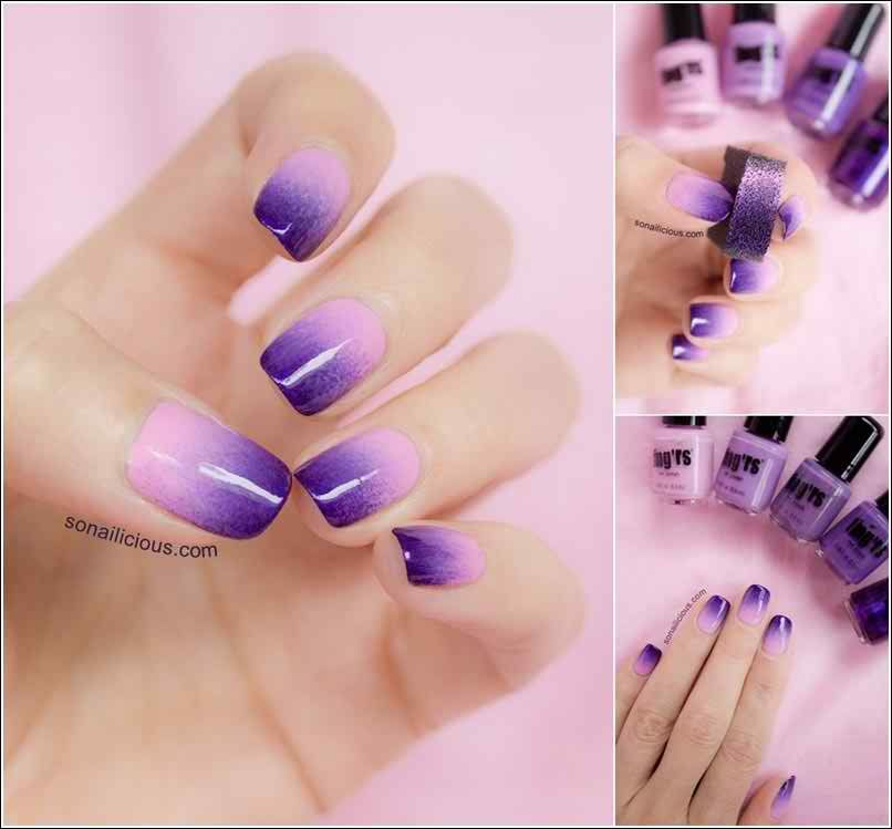 Easy Two-Toned Nail Designs