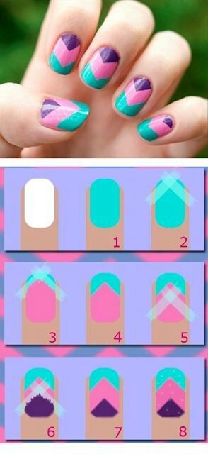 Nail Art Designs with Scotch Tape