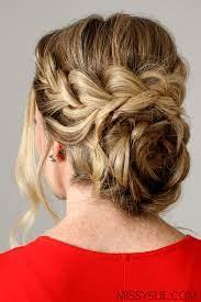 flower braid bun hairstyle