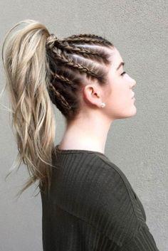 Pure-Braid Pony hairstyle
