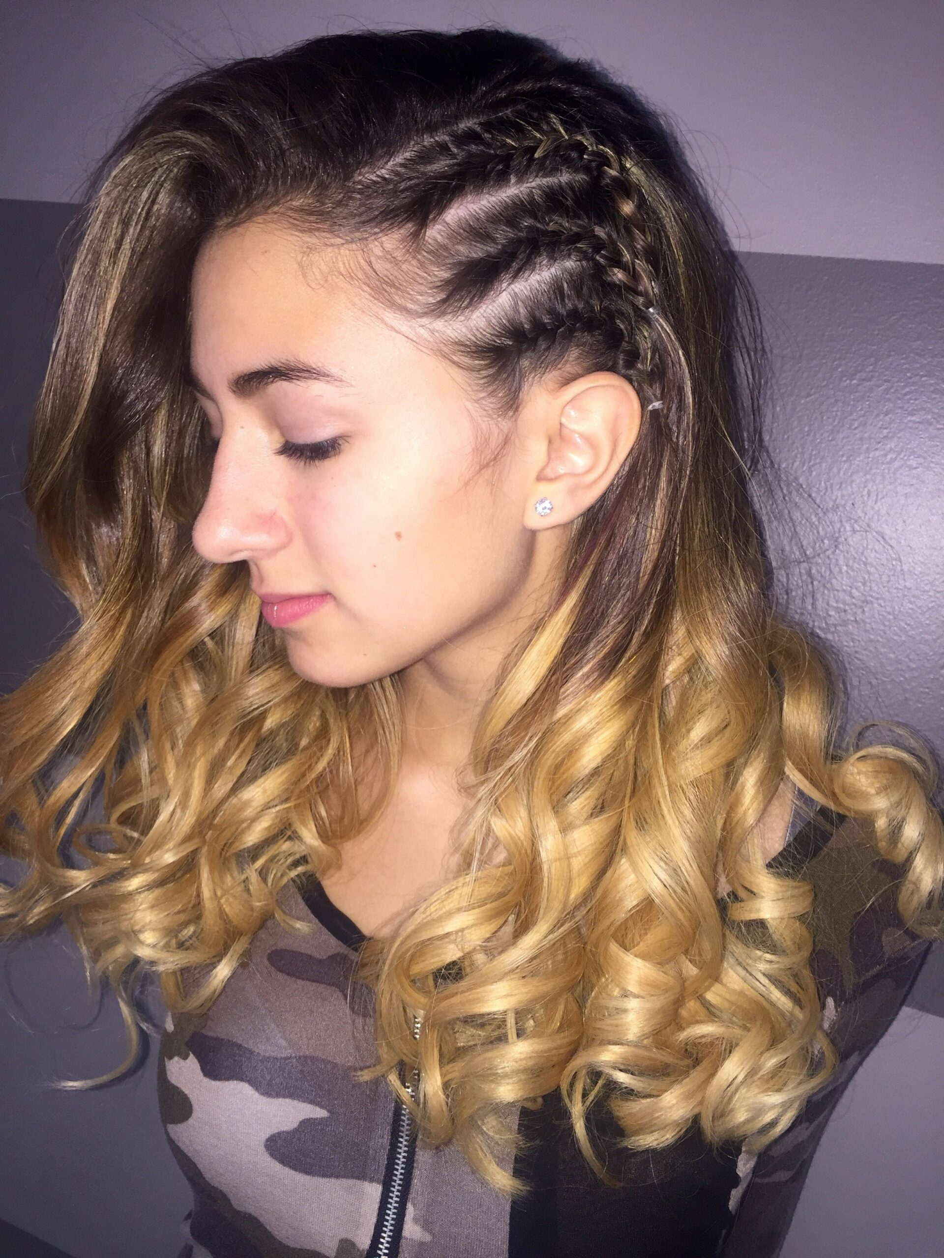 One Side Braid hairstyle
