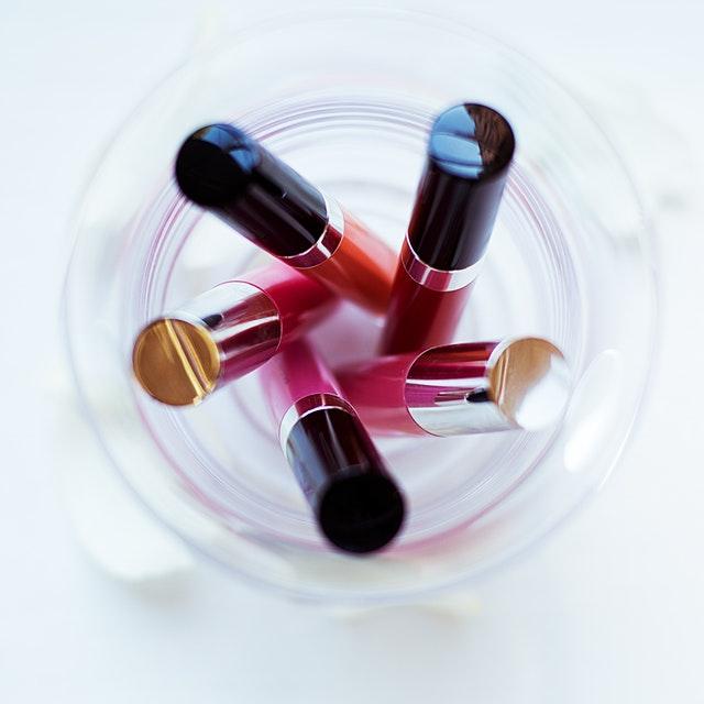 Makeup with lipstick